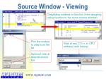 source window viewing