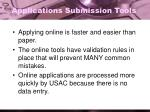 applications submission tools
