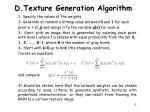 d texture generation algorithm