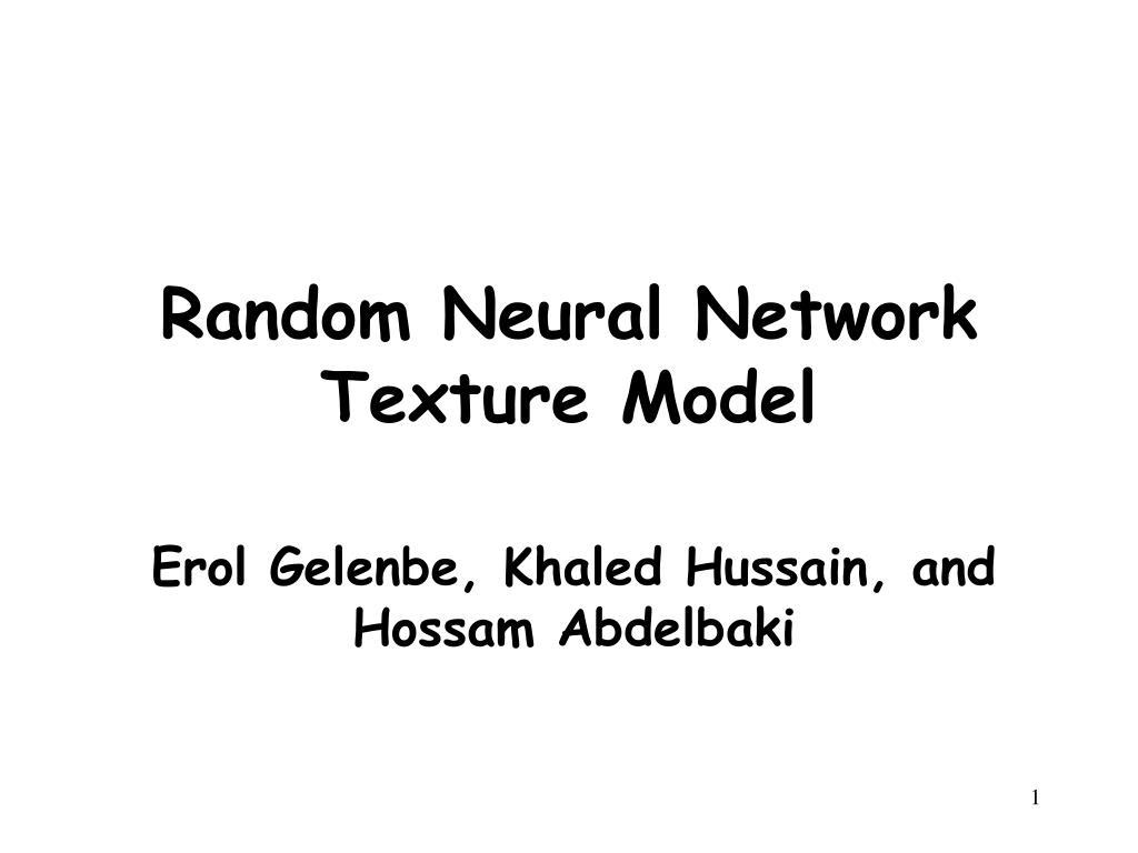 random neural network texture model l.