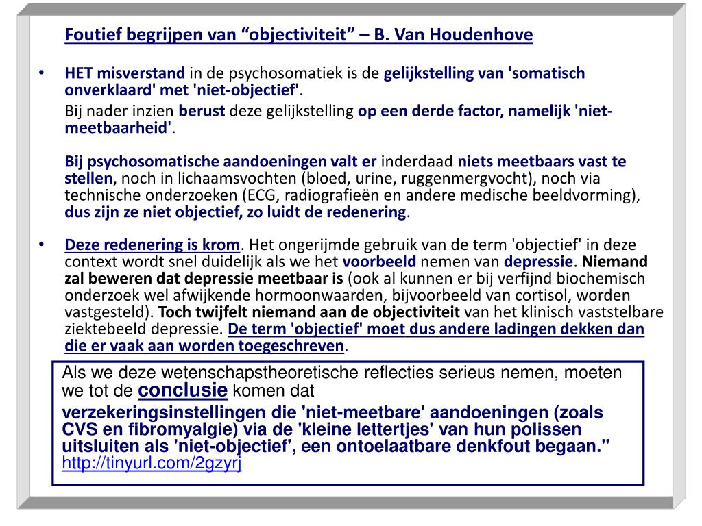 """Foutief begrijpen van """"objectiviteit"""" – B. Van Houdenhove"""