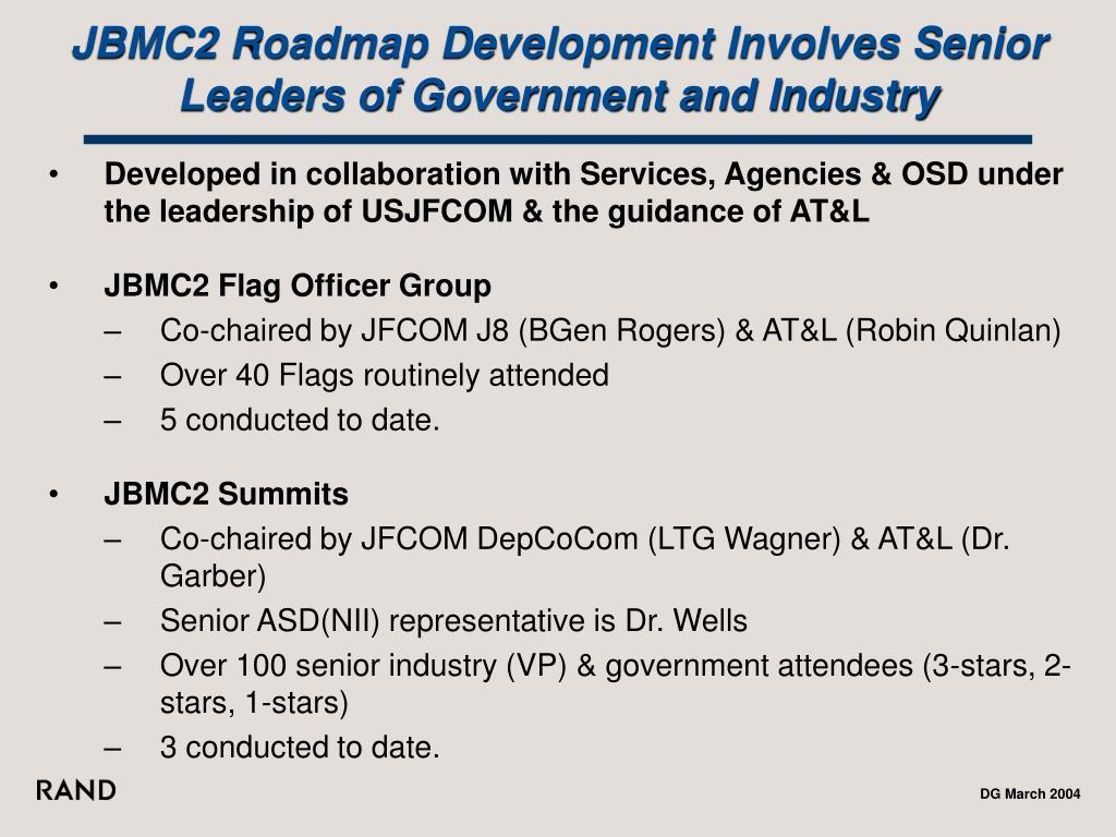 JBMC2 Roadmap Development Involves Senior Leaders of Government and Industry