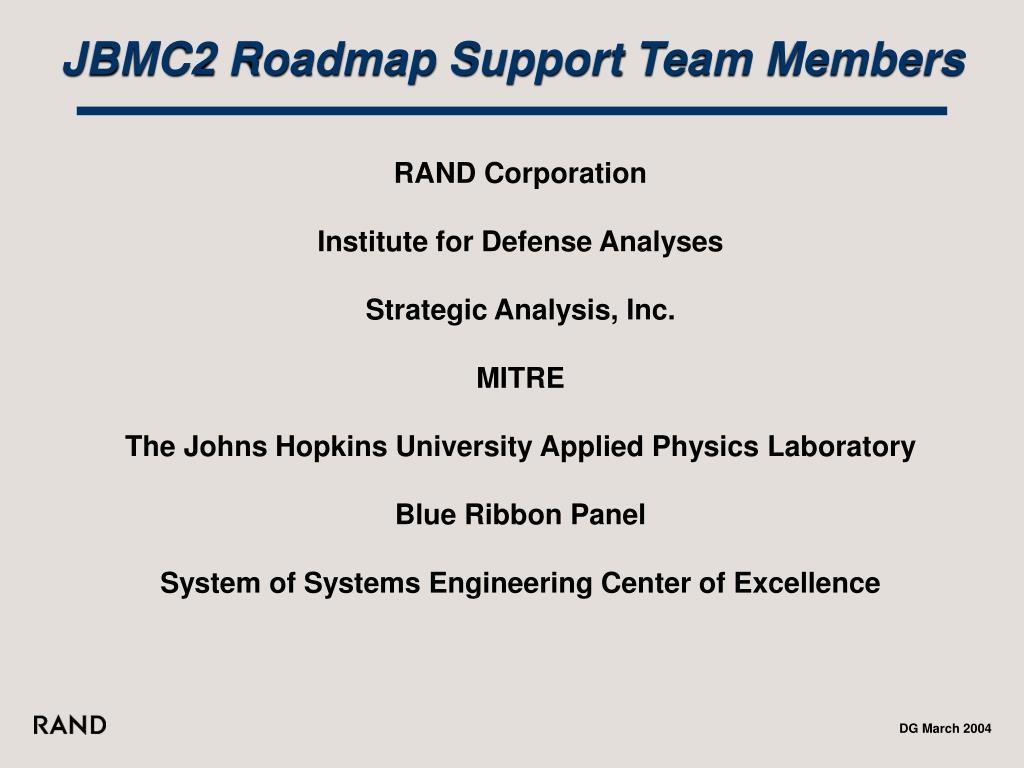 JBMC2 Roadmap Support Team Members