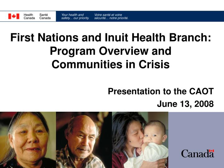 Presentation to the caot june 13 2008