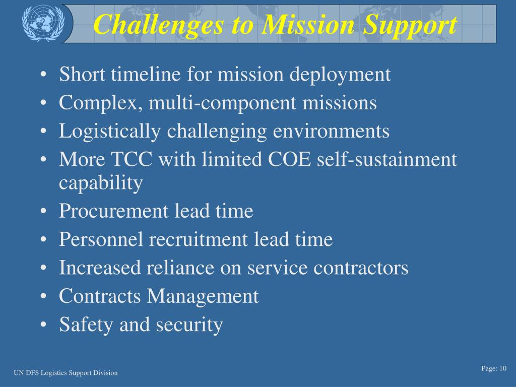 Challenges to Mission Support
