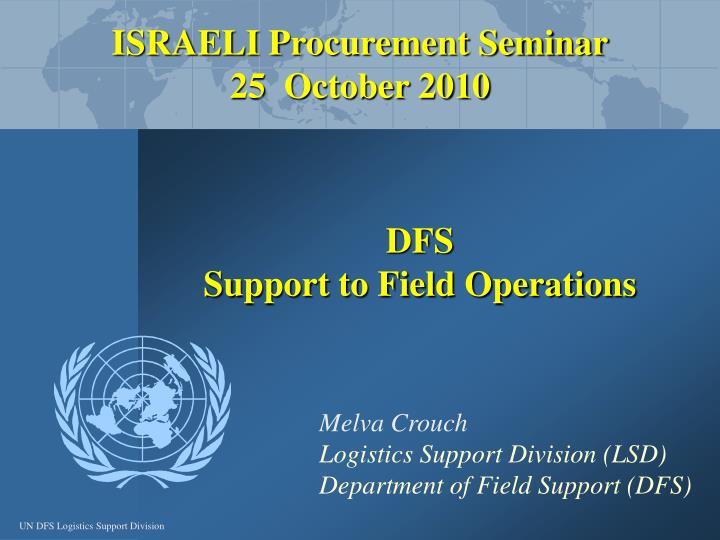 Dfs support to field operations