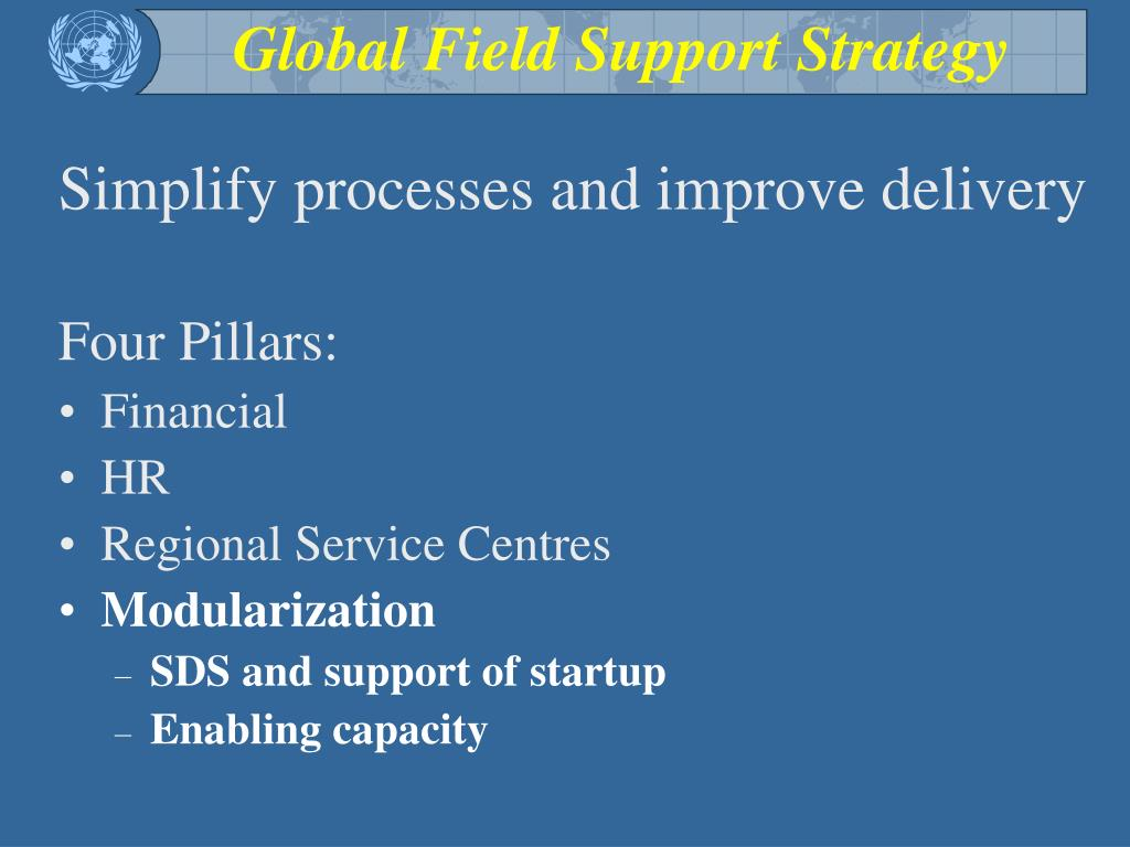 Global Field Support Strategy