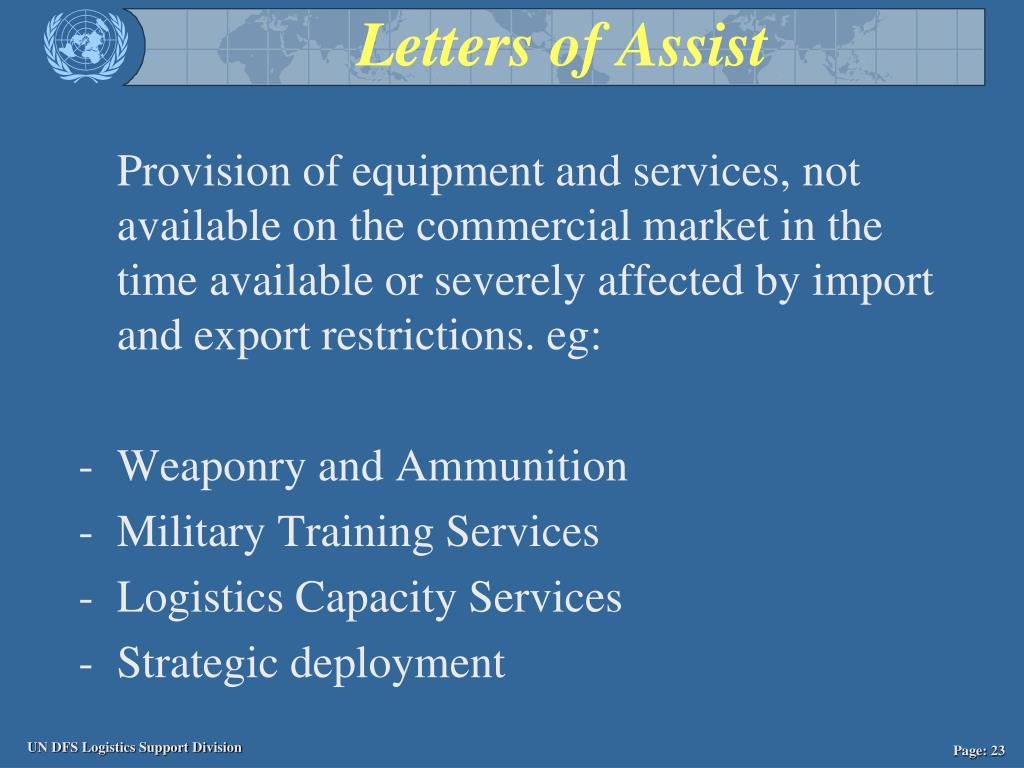 Letters of Assist