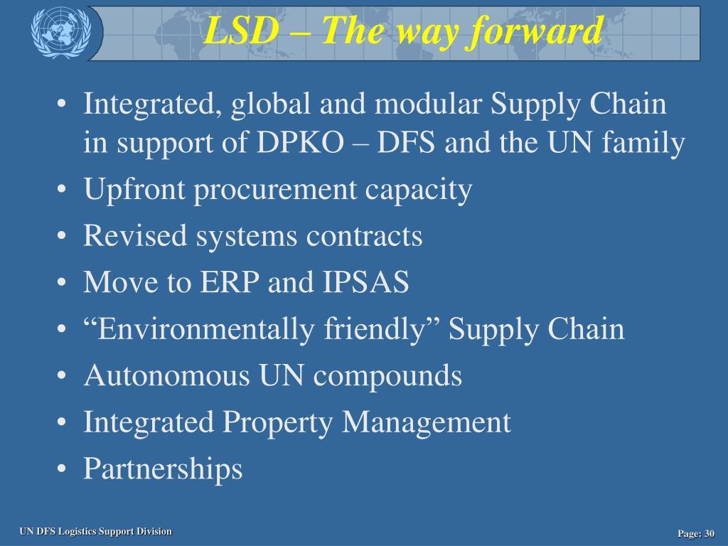 LSD – The way forward
