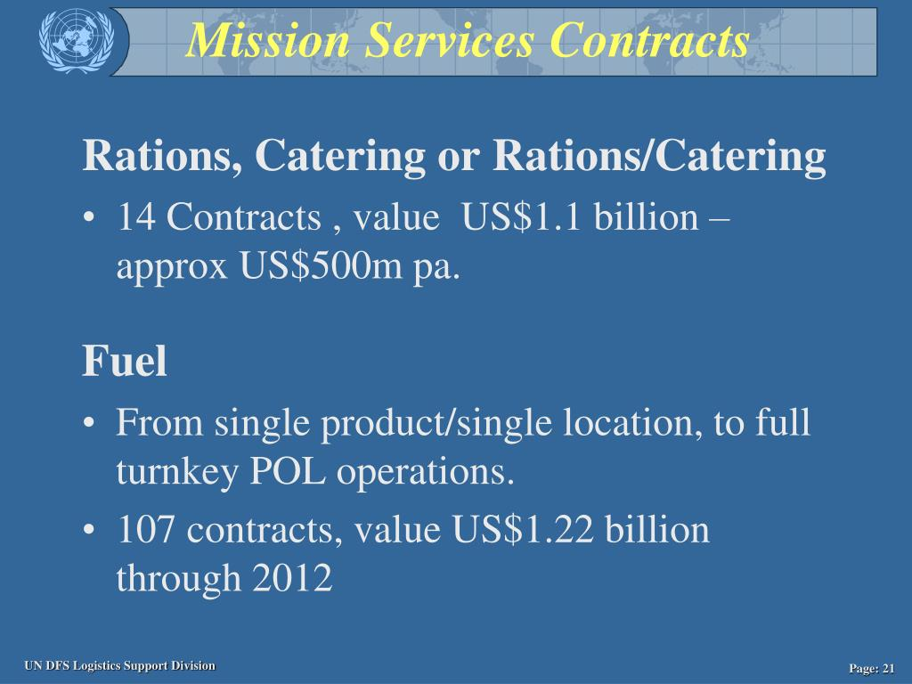 Mission Services Contracts