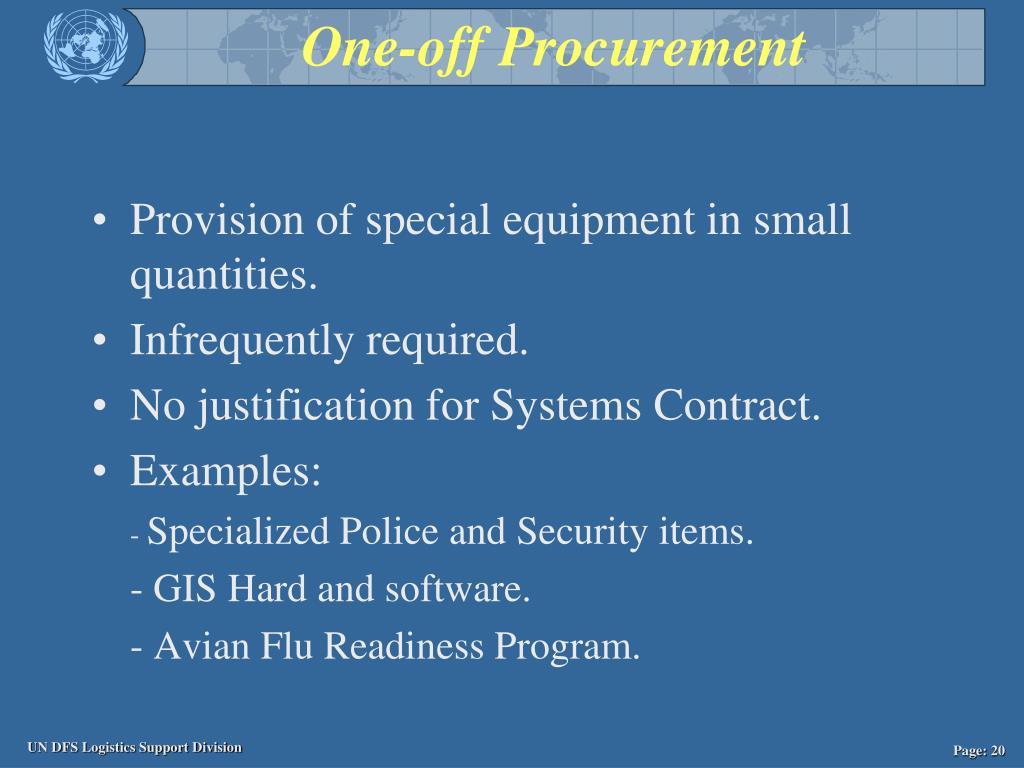 One-off Procurement
