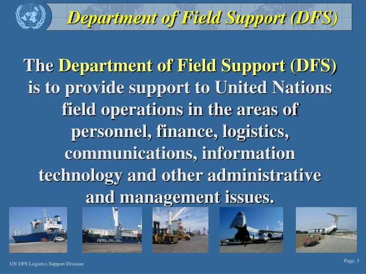 Department of Field Support (DFS)