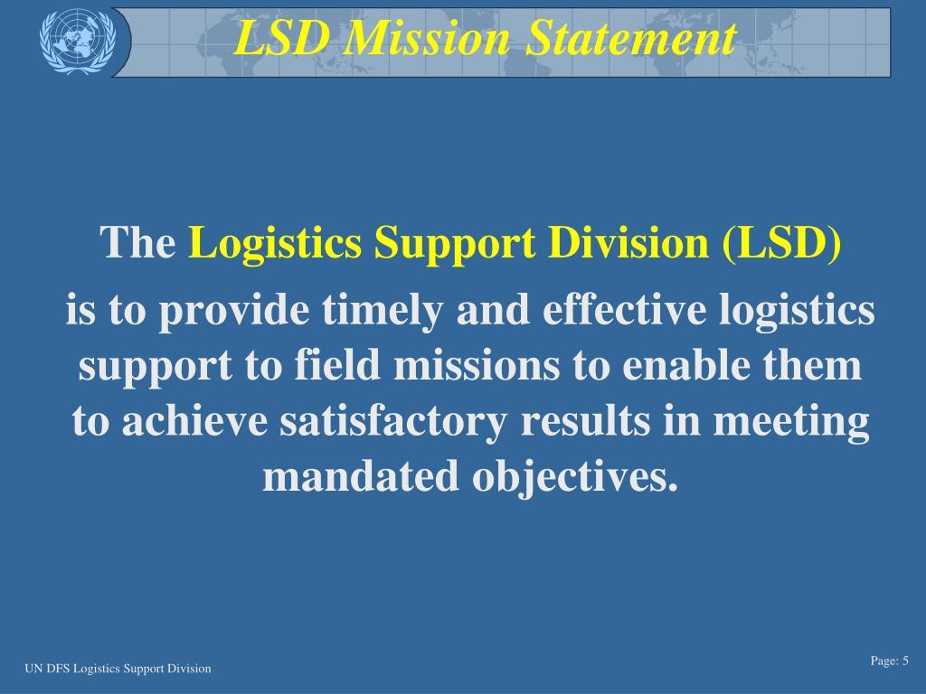 LSD Mission Statement