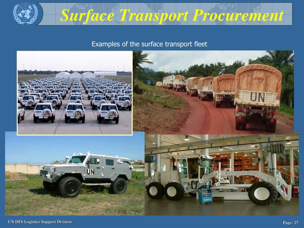 Surface Transport Procurement