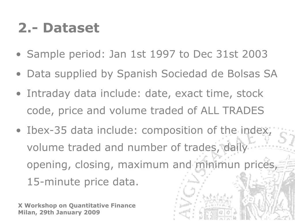 2.- Dataset