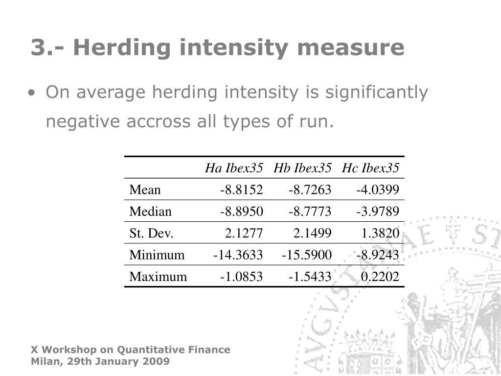 3.- Herding intensity measure