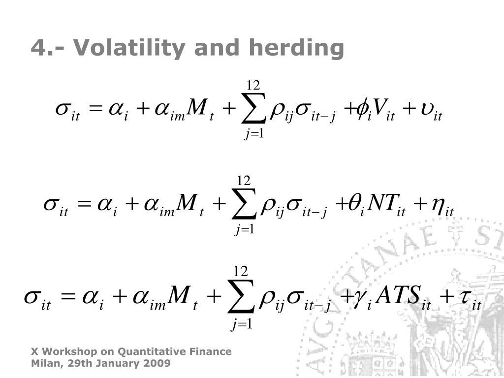 4.- Volatility and herding