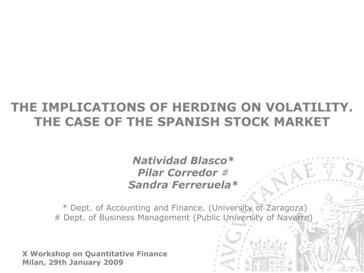 The implications of herding on volatility the case of the spanish stock market