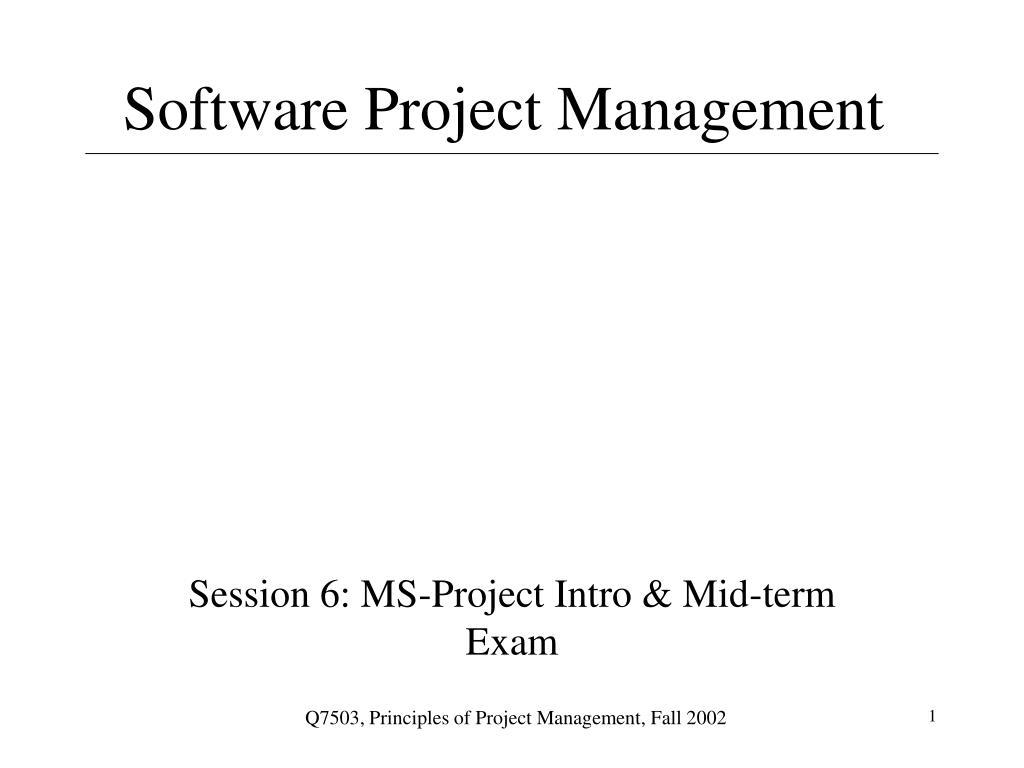 software project management l.