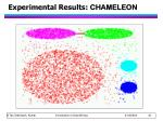 experimental results chameleon