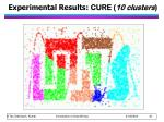 experimental results cure 10 clusters