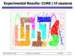 experimental results cure 15 clusters