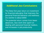 additional joo conclusions