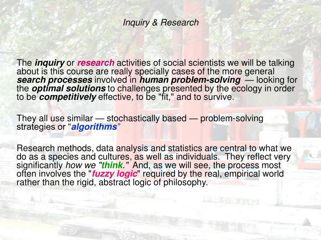inquiry research l.