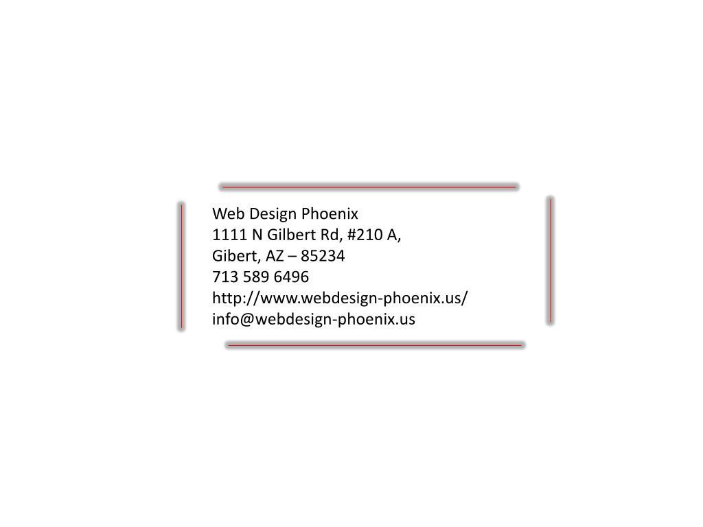 Web Design Phoenix