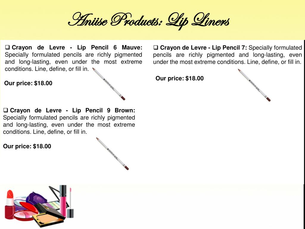 Aniise Products: Lip Liners