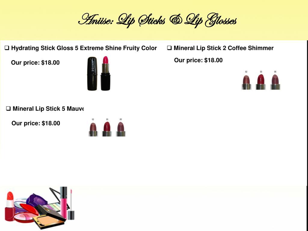 Aniise: Lip Sticks & Lip Glosses