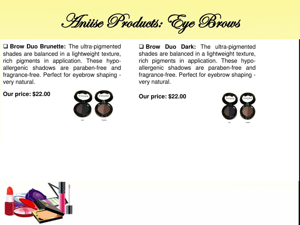 Aniise Products: Eye Brows