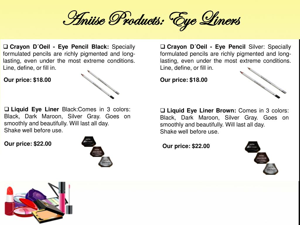Aniise Products: Eye Liners