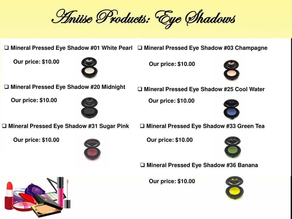 Aniise Products: Eye Shadows