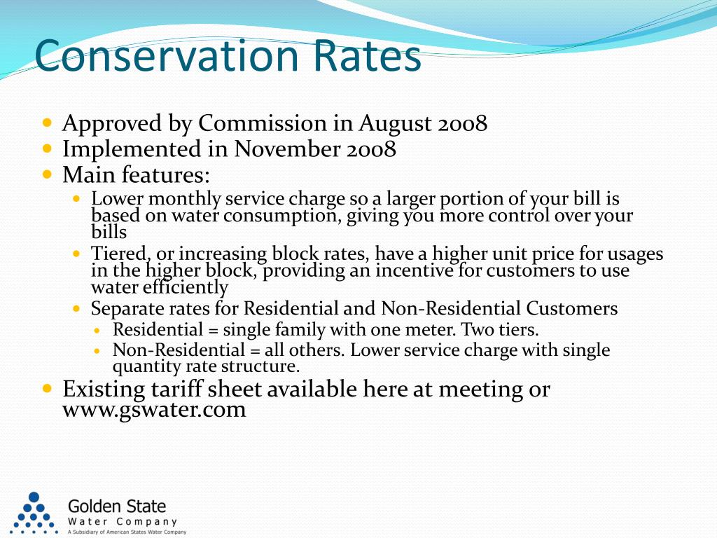 Conservation Rates