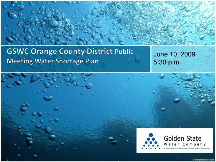 Gswc orange county district public meeting water shortage plan