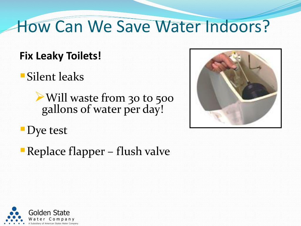 How Can We Save Water Indoors?