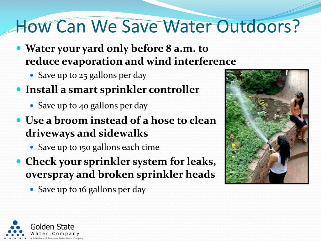How Can We Save Water Outdoors?