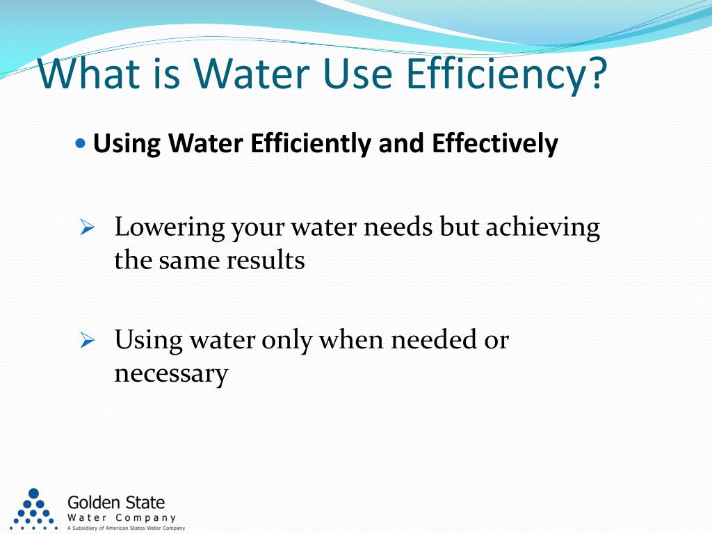 What is Water Use Efficiency?