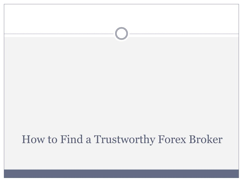 How to Find a Trustworthy
