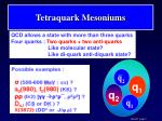 tetraquark mesoniums