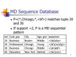 md sequence database