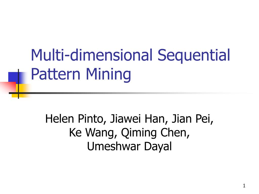multi dimensional sequential pattern mining