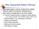 why sequential pattern mining