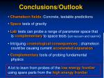 conclusions outlook
