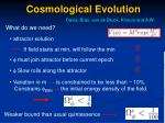 cosmological evolution