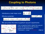 coupling to photons