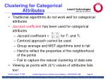 clustering for categorical attributes