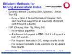 efficient methods for mining association rules19
