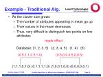example traditional alg
